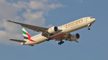 Pesawat Fly Emirates (Wikimedia Commons)
