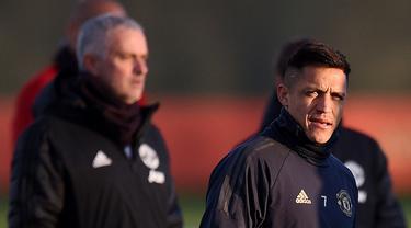 Penyerang Manchester United, Alexis Sanchez.
