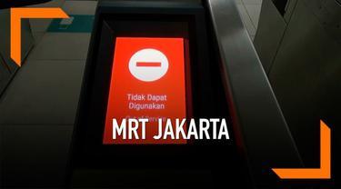 Warga mengeluhkan masalah pada mesin tap tiket masuk MRT Jakarta.