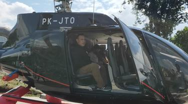 Ketua KPK Firli Bahuri naik helikopter