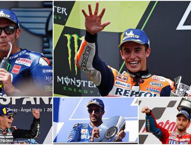 Daftar Gaji Pembalap MotoGP 2020, Marc Marquez Lewati Valentino Rossi