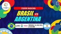 BRASIL VS ARGENTINA (Liputan6.com/Abdillah)