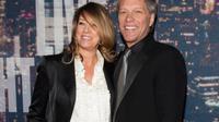 Jon 'Bon Jovi' dan sang istri Dorothea Hurley. (Foto: NY Daily News)