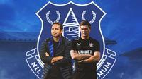 Everton - Frank Lampard dan Steven Gerrard (Bola.com/Adreanus Titus)