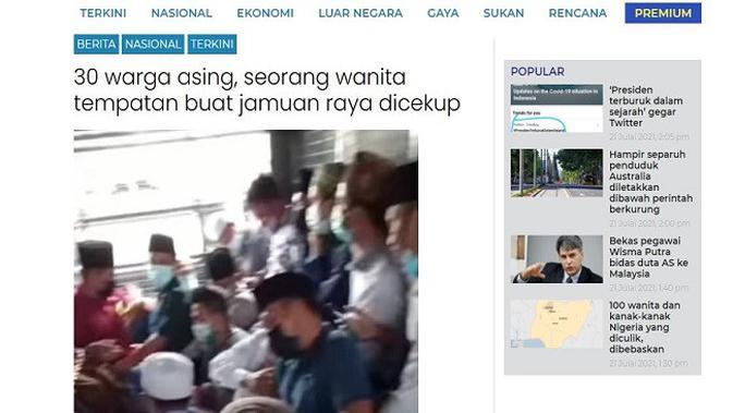 Gambar Tangkapan Layar Artikel dari Situs utusan.com.my.