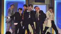BTS di Billboard Music Awards 2019 (Photo by Chris Pizzello/Invision/AP)