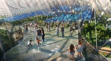 Saatnya Menikmati Hutan Hujan dan Taman dalam Bandara di Sini