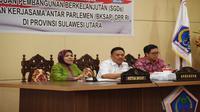 Ketua Badan Kerja Sama Antar-Parlemen (BKSAP) DPR RI Nurhayati Ali Assegaf saat memimpin tim kunjungan kerja BKSAP ke Manado, Sulut, Kamis (5/4/2018).