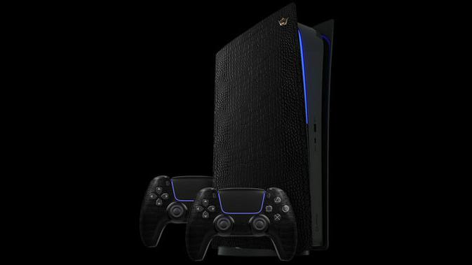 PS5 dengan bahan lapisan kulit buaya. (Doc: Caviar)
