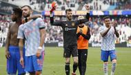 Manchester United pun akhirnya memenangkan pertandingan 2-1. (AFP/Ian Kington)