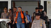 Rico DiTan Sari, trdakwa kasus suap yang melibatkan gubernur Bengkulu non Aktif Ridwan Mukti mengajukan diri untuk menjadi Justice Collaborator (Liputan6.com/Yuliardi Hardjo)