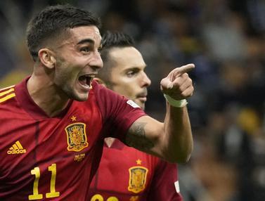 Foto: Hentikan Rekor Kemenangan Italia, Spanyol Melenggang ke Babak Final UEFA National League 2021