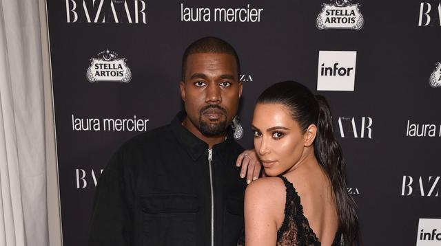 Kim Kardashian dan Kanye West. (AFP/Bryan Bedder/GETTY IMAGES NORTH AMERICA)