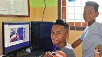 SOS Children's Village beri bantuan fasilitas komputer untuk mendukung pembelajaran jarak jauh. (Dok. Instagram @desaanakkos/ https://instagram.com/desaanaksos?igshid=vbla8w2tw50m/ Dinda Rizky)