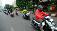 PT Yamaha Indonesia Motor Manufacturing menggelar acara bertajuk '125 challenge' yang melibatkan pemilik Yamaha Gear dan awak media. (YIMM)