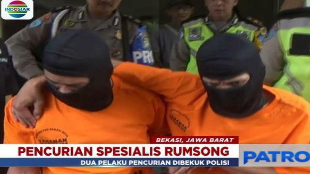 Komplotan pencuri rumah kosong asal Palembang ini mengaku sudah memiliki sasaran delapan rumah kosong yang ditinggal mudik.