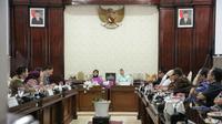 Pemerintah Kota (Pemkot) Surabaya menerima kunjungan tamu istimewa Menteri Perumahan dan Kerajaan Tempatan Malaysia (Foto:Liputan6.com/Dian Kurniawan)