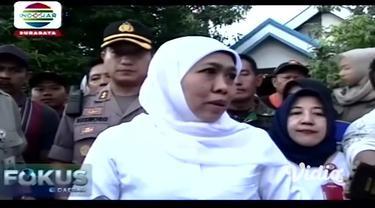 Gubernur Jawa Timur Khofifah Indar Parawansa, Kamis pagi, mendatangi lokasi banjir dampak luapan Kali Lamong di Cerme Gresik. Penanganan banjir Kali Lamong menurut Gubernur sudah masuk dalam Perpres No. 80 Tahun 2020.