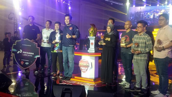 Pengumuman juara UniPin SEACA 2019 di Kartika Expo, Balai Kartini, Jakarta. (Doc: UniPin)