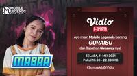 Streaming MABAR Seru Bareng Guraisu dan Larissa Rochefort di Vidio. (Sumber : dok. vidio.com)