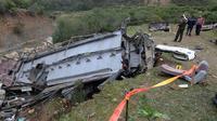 Kecelakaan bus di Tunisia. Dok: AFP
