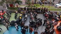 Ratusan biker dari berbagai klub dan naungan berbaur dalam acara halal bihalal HDCI Bandung
