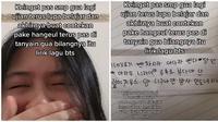 Aksi Kocak Wanita Buat Contekan saat SMP. (Sumber: TikTok/ @goo_ci)