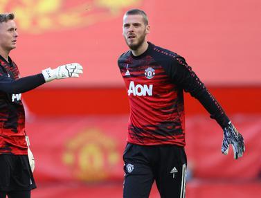 FOTO: Kelebihan Dean Henderson dibandingkan David de Gea di Bawah Mistar Gawang Manchester United - Dean Henderson; David de Gea