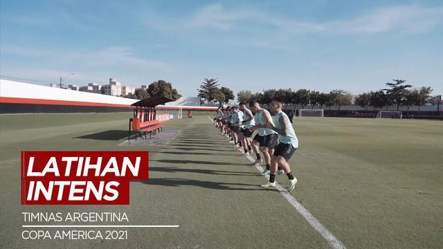 Berita Video, Timnas Argentina Gelar Latihan Terkahir Jelang Melawan Kolombia di Semifinal Copa America 2021