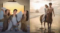 6 Editan Foto Pria Lagi Liburan Bersama Aktris Hits Ini Kocak (sumber: Instagram/srdesignart)