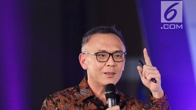 President Director & CEO Indosat Ooredoo Joy Wahjudi saat jadi pembicara di gelaran Emtek Goes To Campus 2018 di Universitas Negeri Semarang (UNNES), Semarang, Kamis (19/7). (Liputan6.com/Herman Zakharia)
