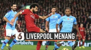 Laga Liverpool kontra Manchester City di stadion Anfield berakhir dengan kemenangan The Reds 3-1.  Berhasil kumpulkan 34 poin, Liverpool puncaki klasemen Liga Inggris.