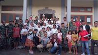 letkol HTL mengajar di SMP 1 Atap
