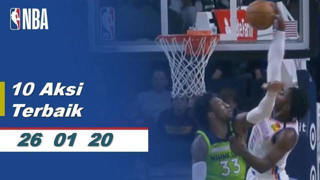 Berita video mengenai 10 aksi terbaik pada kompetisi basket NBA per 26 Januari 2020. Lebron James, guard dari Los Angeles Lakers mendominasi dengan aksinya.