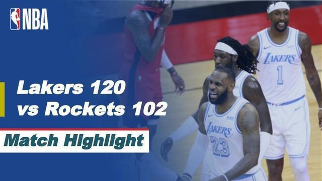 Berita Video LA Lakers Kalahkan Houston Rockets 120-102