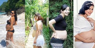 Momen kehamilan selalu dinantikan setelah resmi menikah. Mengabadikan kehamilan beberapa tahun belakangan ini marak. Bahkan, tidak sedikit yang diunggah di media sosialnya. (istagram)