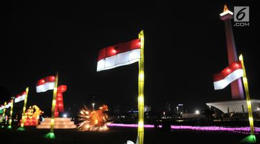 Gemerlap Festival of Light Monas Sambut HUT ke-74 RI