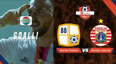Berita video momen gol striker Persija Jakarta, Marko Simic, di shopee Liga 1 2019 saat menghadapi Barito Putera di Stadion 17 Mei, Banjarmasin, Senin (20/5/2019).
