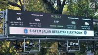 Mesin electronic road pricing (ERP) terlihat di Jalan Medan Merdeka Barat, Jakarta, Rabu (11/9/2019). Pemerintah Provinsi DKI Jakarta membatalkan lelang proyek jalan berbayar atau ERP untuk mengikuti pendapat hukum Kejaksaan Agung (Kejagung). (Liputan6.com/Immanuel Antonius)