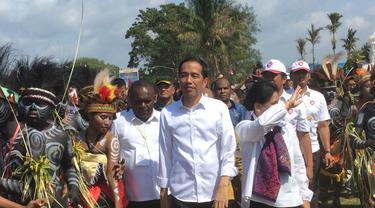 Presiden Jokowi di Merauke