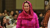 Co-Founder Wahid Fondation Yenny Wahid saat menghadiri Forum Nusantara bersama UN Women, Jakarta, Jumat (8/2). Forum membahas geliat perempuan di desa membangun deteksi dan respons terhadap isu intoleransi dan radikalisme. (Liputan6.com/JohanTallo)