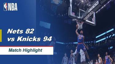 Berita Video Highlights NBA 2019-2020, Brooklyn Nets Vs New York Knicks 82-94