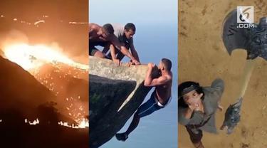 Video Hit hari ini datang dari rekaman kebakaran di Gili Lawa, deretan film Indonesia wajib tonton bulan ini, hingga rekaman turis nekat foto berbahaya demi foto sempurna.