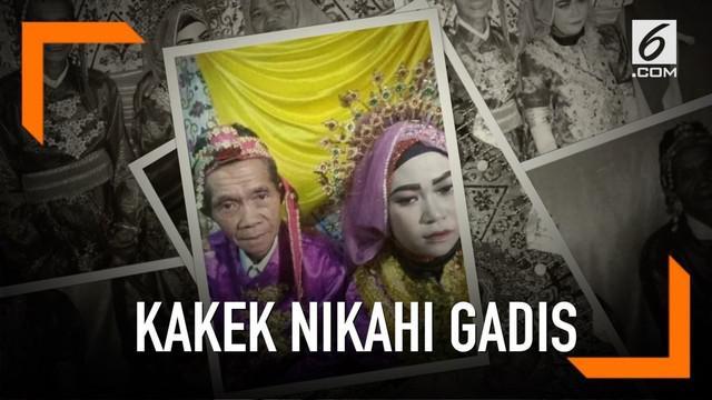 Dengan mahar uang Rp 25 Juta serta sebuah kebun cengkih, kakek berusia 75 tahun menikahi gadis berusia 18 tahun. Pernikahan beda usia puluhan ini terjadi di Sinjai, Sulawesi Selatan.