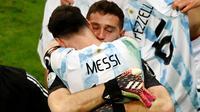 Di laga final Copa America nanti Argentina akan menghadapi Neymar dan kawan-kawan. Kedua kesebelasan akan bertanding di Stadion Macarana, Rio de Janeiro, Brasil, pada minggu (11/7/2021). (Foto:AFP/Silvio Avila)