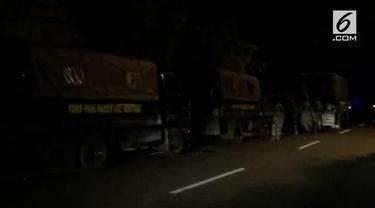 Ratusan personel Kostrad dikirim ke Palu guna mengamankan jalu distribusi bantuan lewat darat menuju Palu