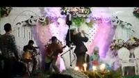 band metal di pernikahan (foto: twitter/@flutulang_)