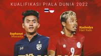 Kualifikasi Piala Dunia - Thailand Vs Indonesia - Suphanat Mueanta Vs Kushedya Hari Yudo (Bola.com/Adreanus Titus)