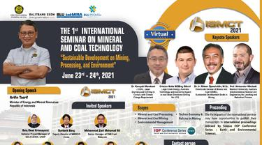 Kementerian ESDM Gelar 1st International Seminar on Mineral and Coal Technology