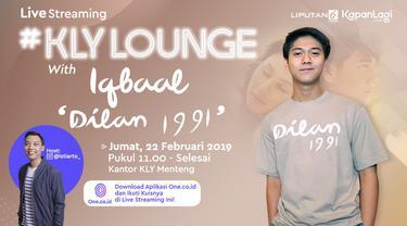 Dalam rangka mempromosikan film terbaru Dilan 1991, Iqbaal Ramadhan mampir ke KLY Lounge lho...  Dan Iqball ditantang bermain No Thumbs Challenge, seperti apa? ini dia...